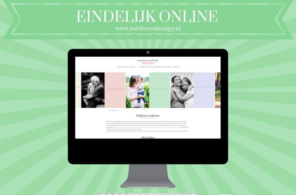 Yes! Mijn nieuwe website staat online!!