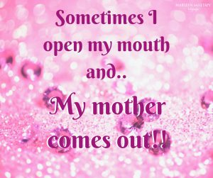 Sometimes I open my mouth