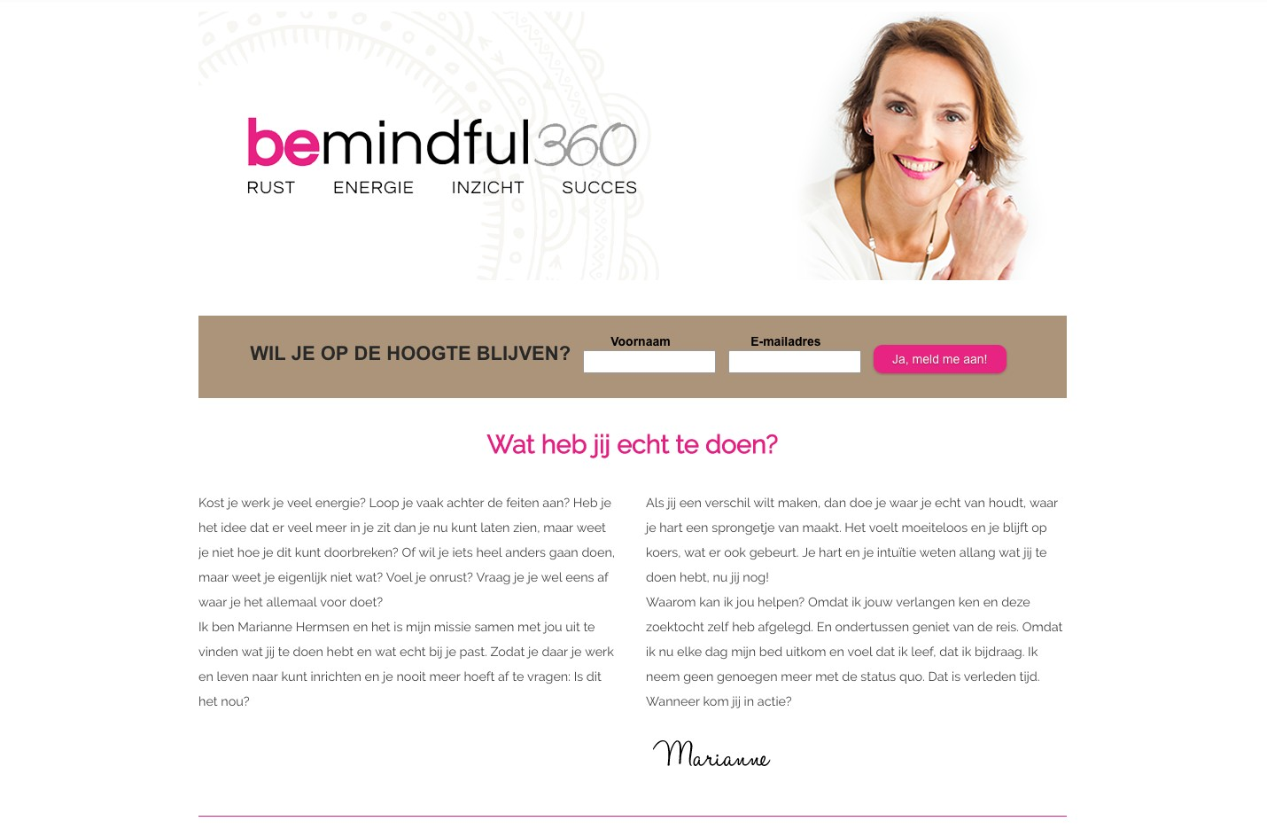 website marianne hermsen bemindful 360 Marleen Sahetapy Fotografie